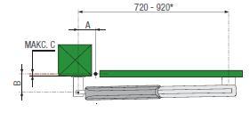 Установочные размеры привода из комплекта Came Ati 5000