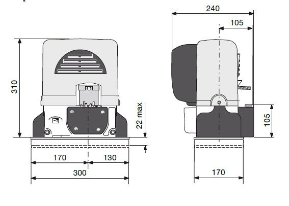 Габаритные размеры BX-78