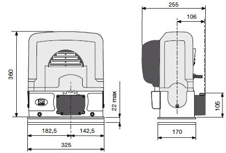 Габаритные размеры BK 2200