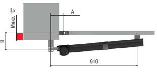 Установочные размеры привода для распашных ворот CAME KR310D