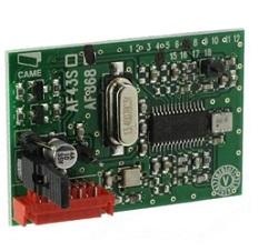 001 AF868 Радиоприемник встраиваемый для пультов Came c частотой 868,35 МГц, используется с пультами Came 001TOP-862NA, 001TOP-864NA