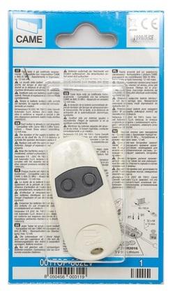 001TOP-862EV Брелок-передатчик 2-х канальный Частота 868,35 МГц