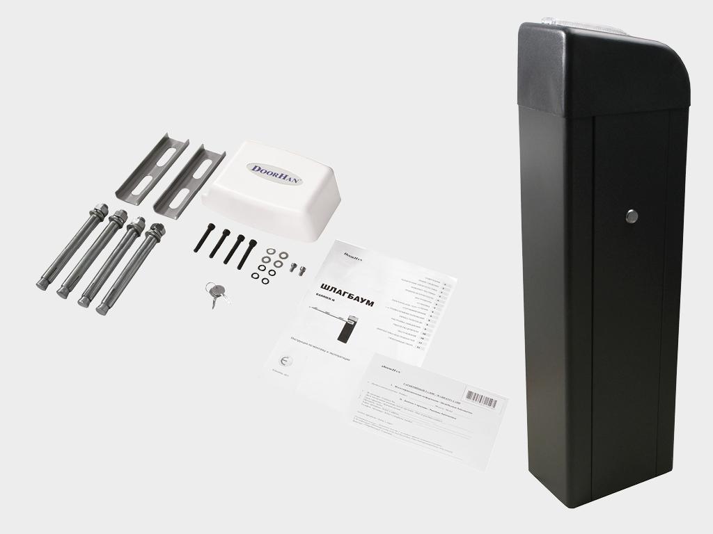 Стойка шлагбаума BARRIER-PRO (DOORHAN) cо встроенным блоком управлением, интегрированным радиоприемником и встроенной сигнальной лампой