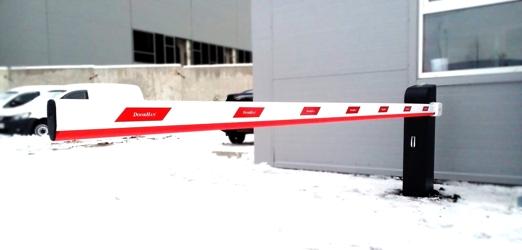 Фото с объекта - Автоматический шлагбаум DoorHan серии Barrier-PRO-4000 для проезда до 4 метров