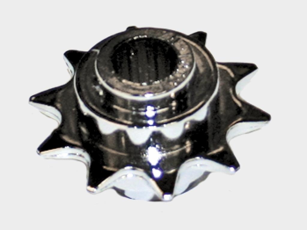 Звездочка цепной передачи из высококачественного металла имеет неограниченный ресурс эксплуатации