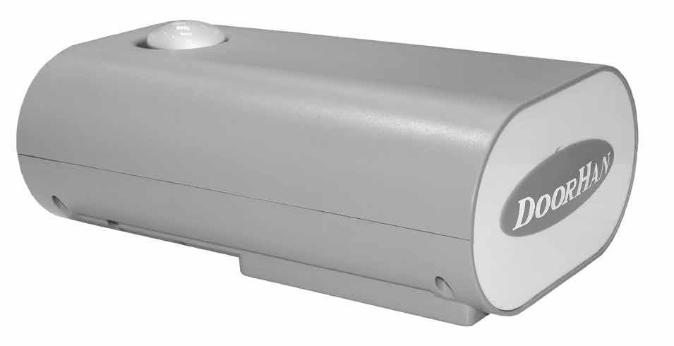 Электропривод Sectional-1200PRO со встроенным приемником и крепежом