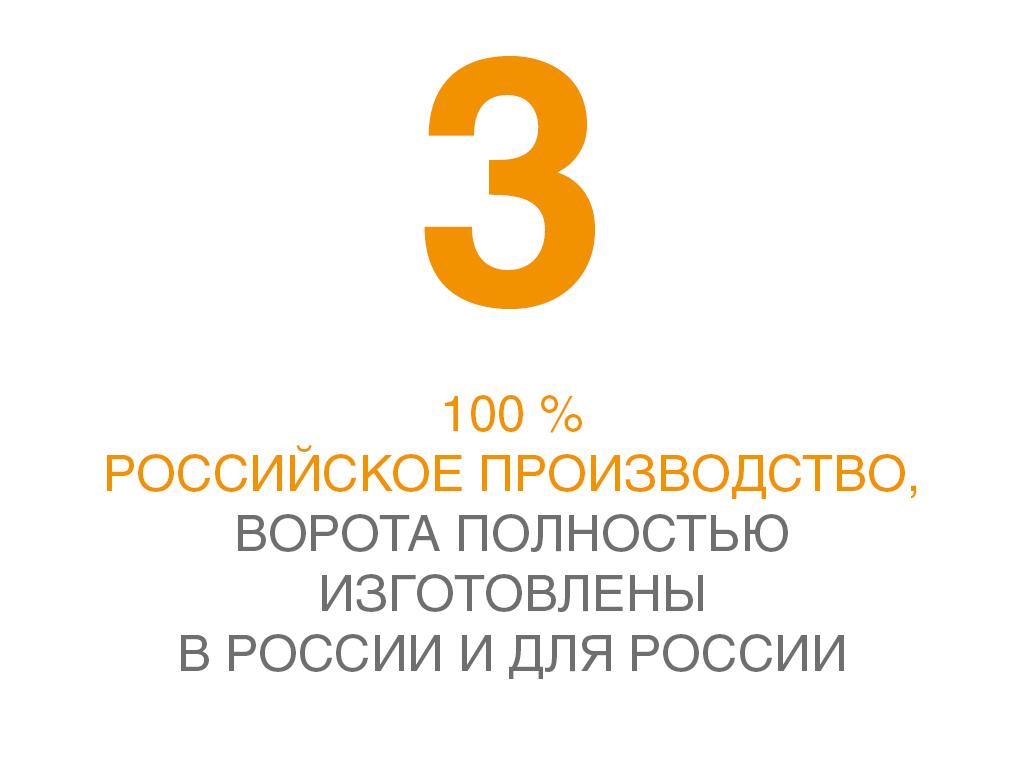 100% российское производство DoorHan