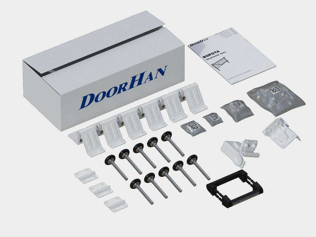 Коробка с комплектацией для монтажа, паспортом на изделие и инструкцией по монтажу.