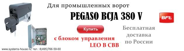 BFT KIT PEGASO BCJA 380 V c панелью управления для промышленных секционных ворот площадью до 45 кв.м.
