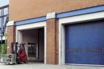 Рулонные промышленные ворота Hormann, синий цвет