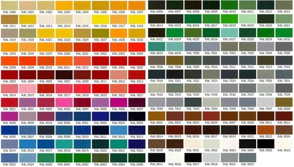 RAL — немецкий цветовой стандарт, разработанный в 1927 году Государственным комитетом по условиям поставок